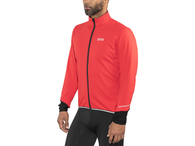 GORE WEAR C5 Windstopper Thermo Jas Heren, red/black